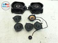 BMW X5 E70 SPEAKER SET-8 SOUND SYSTEM SURROUND TWEETERS WOOFERS OEM
