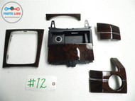 10-12 MERCEDES BENZ GLK X204 GLK350 DASH CONSOLE TRIM WOOD WOODGRAIN TRAY SET OEM