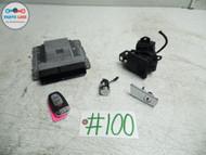 2011 AUDI S5 S4 B8 S-LINE IGNITION SET ENGINE ECU LOCK KEY MODULE START SWITCH OEM