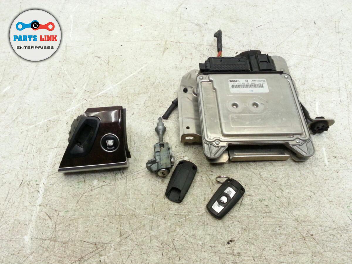 BMW X5 E70 ECU LOCK SET OF 5 ECM ENGINE COMPUTER MODULE KEY START STOP  IGNITION