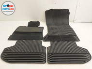 2011-2016 BMW 550I GT F07 FRONT REAR LEFT & RIGHT FLOOR RUBBER MAT SET OF 4 OEM
