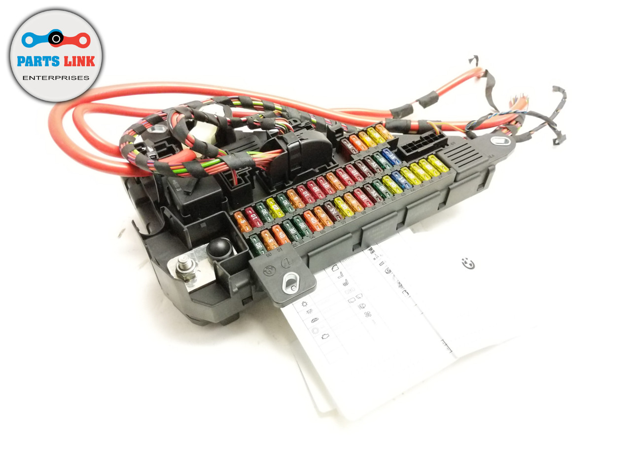 2006-2009 bmw m6 e63 rear trunk fuse box relay cable terminal m5 e60 650i  550i - parts link ent  parts link enterprise