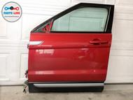 12-19 RANGE ROVER EVOQUE L538 FRONT LEFT DRIVER DOOR SHELL GLASS MOLDING HANDLE #EQ102219