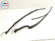 10-16 JAGUAR XJ X351 FRONT RIGHT LEFT WINDSHIELD WIPER ARM BLADES ASSEMBLY SET-2