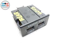 2017-2020 MASERATI LEVANTE M161 CENTER CONSOLE REAR USB DOUBLE SOCKET PLUG BANK