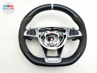 2015-2019 MERCEDES C63 S AMG W205 DRIVER STEERING WHEEL SUEDE SHIFTERS ASSEMBLY #MB071920