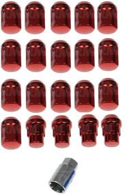 "20) Dorman 713-275E Red Acorn Wheels Rims Lock Lug Nuts Set Red 1/2"" Thread New #NI100820"