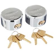 2) Trimax THP2XL Hockey-Puck Shackle Trailer Door Toy Box Utility Lock Universal #NI101920
