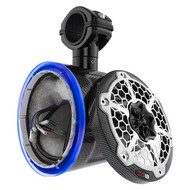 """1) DS18 CF6TPBNS 6.5"""" Marine/Boat Wakeboard Pod Enclosures for Speakers RGB LED #NI062121"""