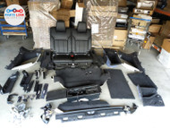 17-20 LAND ROVER DISCOVERY REAR 3RD ROW SEAT QUARTER TRIM BELT PILLAR CARPET SET #LD081721