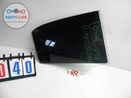 MERCEDES E63 W212 AMG RIGHT REAR PASSENGER DOOR GLASS WINDOW DARK TINT OEM