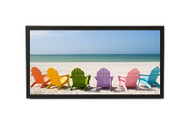 6x18 Panoramic Frame - Thin Satin Black