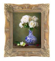 """11x14 Antique Gold Finished Corner 2"""" Frame"""