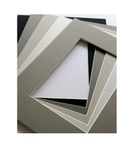 16x20 Single Matting Pack of 5 - Assorted Greys and Blacks
