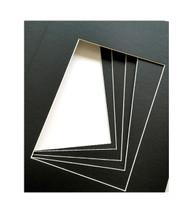 8x10 Single Matting Pack of 5 - Black