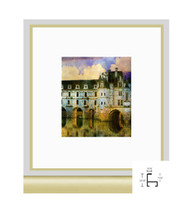 10x10 Frosted Gold Metal Frame - Minimal Flat Top
