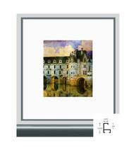 8 1/2x11 Shiny Contrast Grey Metal Frame - Flat Top