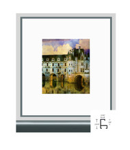 11x17 Shiny Contrast Grey Metal Frame - Flat Top