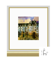 11x14 Shiny Gold Metal Frame - Curved Top