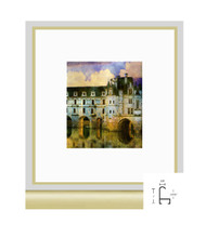 10x10 Frosted Gold Metal Frame - Curved Top