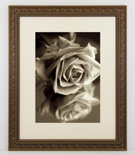 6x8 Antique Black with Gold Ivy Frame