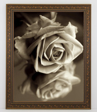 12x18 Antique Black with Gold Ivy Frame