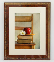 14x18 Wood Tone with Decorative Inlay Frame