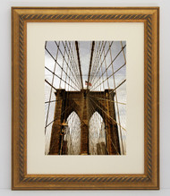 8x10 Gold Rope Frame