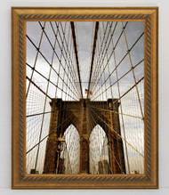 12x18 Gold Rope Frame