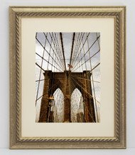 5x7 Silver Rope Frame