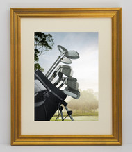 11x14 Antique Gold With Grey Line Frame