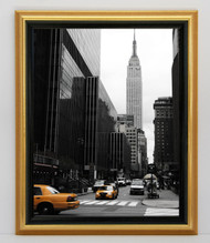 12x18 Traditional Gold With Black Lip Frame