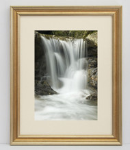 16x20 Warm Silver With Gold Wash Frame