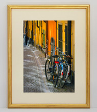 5x7 Thin Traditional Gold With Red Lines Frame