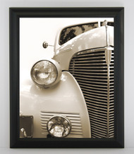 11x17 Contemporary Curved Satin Black Frame