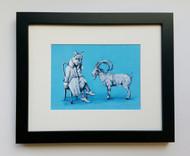 Ibex You Know- Framed Art Print - 8x10