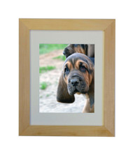 """Natural Picture Frame - raw unfinished wood - 1.5"""" wide - 8x10 artist frame - With Matting"""