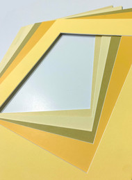 8x10 Single Matting Pack of 5 - Assorted Yellows