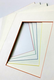 8x10 Single Matting Pack of 5 - Assorted White With Color Core