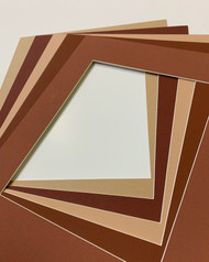 11x14 Single Matting Pack of 5 - Assorted Browns