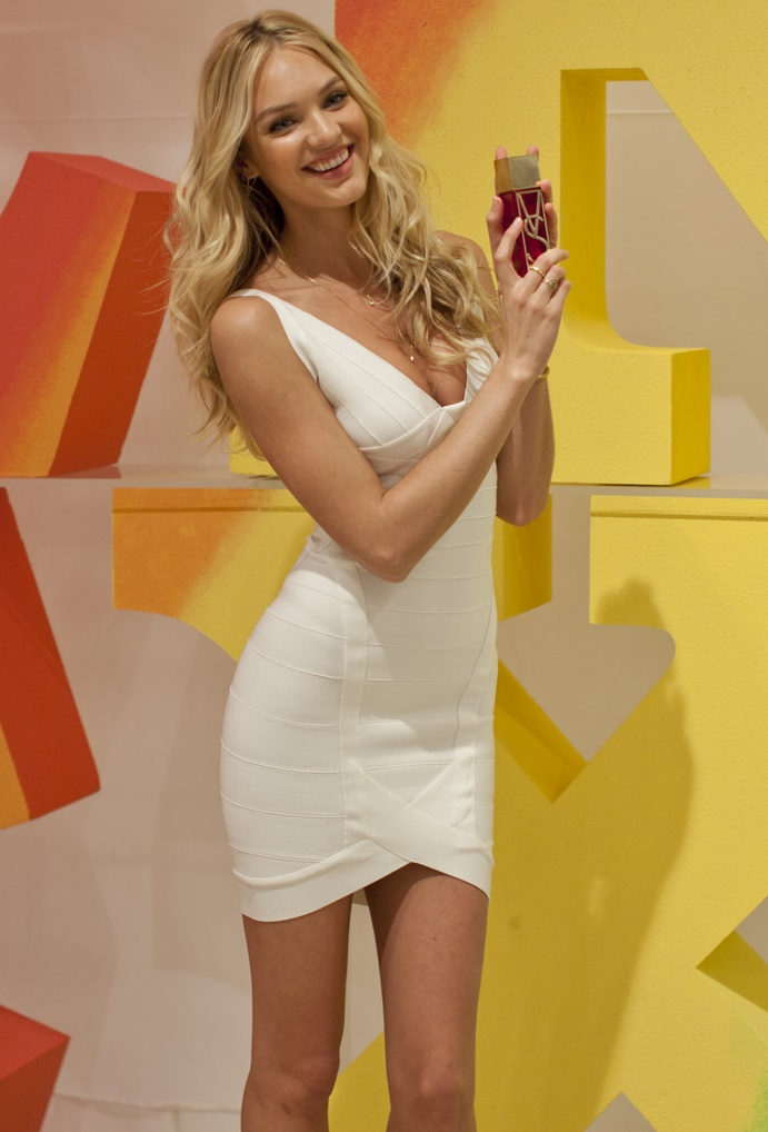 Candice Swanepoel White Bandage Dress