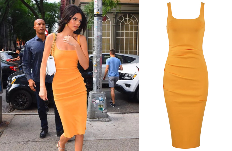 kendall-jenner-orange-midi-draped-dress-dream-it-wear-it.jpg