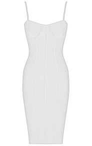 Structured Bustier Midi Bandage Dress White