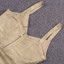 Tie Detail Woodgrain Foil Print Bandage Dress Gold