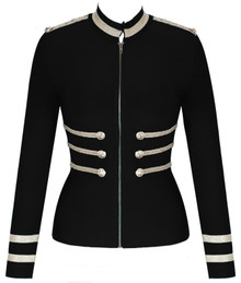 Long Sleeve Officer Bandage Jacket Black