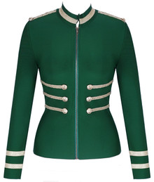 Long Sleeve Officer Bandage Jacket Green