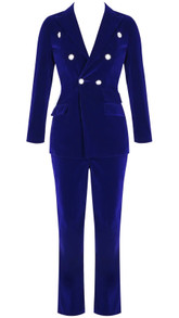 Long Sleeve Suit Blue