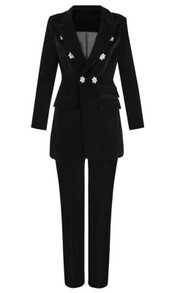 Long Sleeve Suit Black