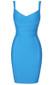 Cross Over Detail Bandage Dress Blue