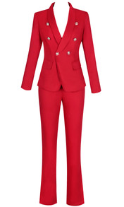 Long Sleeve Suit Red